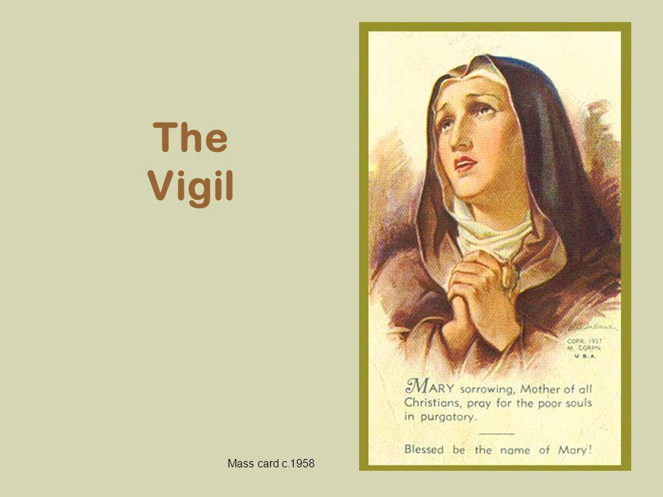The Vigil Mass card c.1958