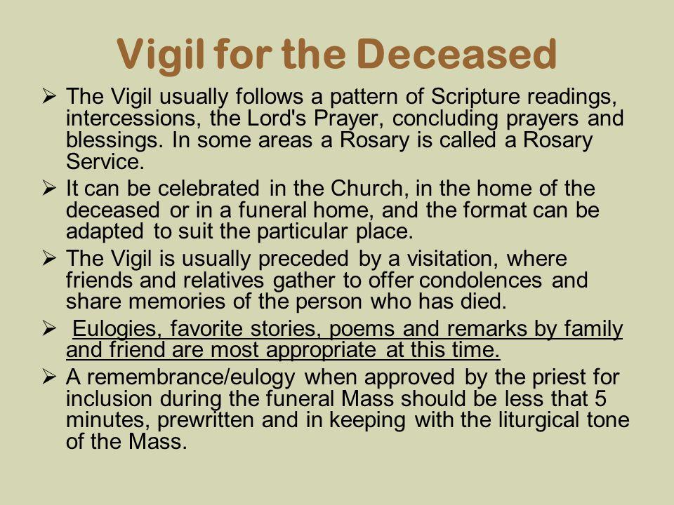Vigil for the Deceased