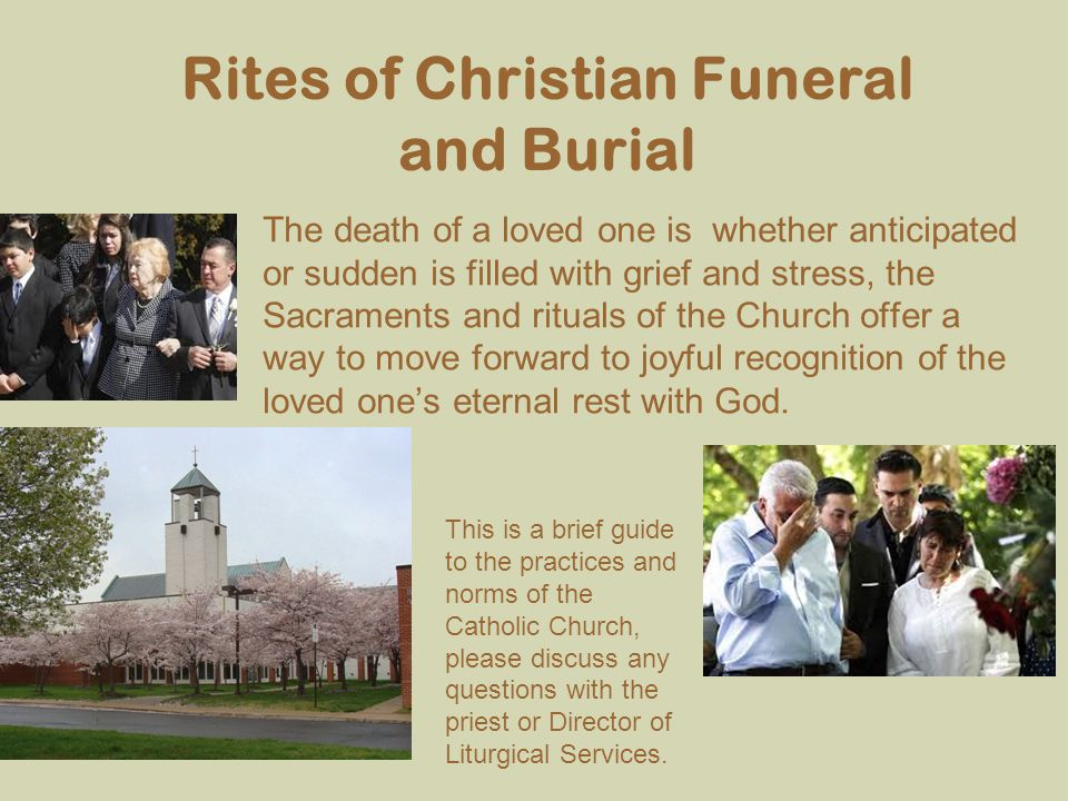 Rites of Christian Funeral and Burial