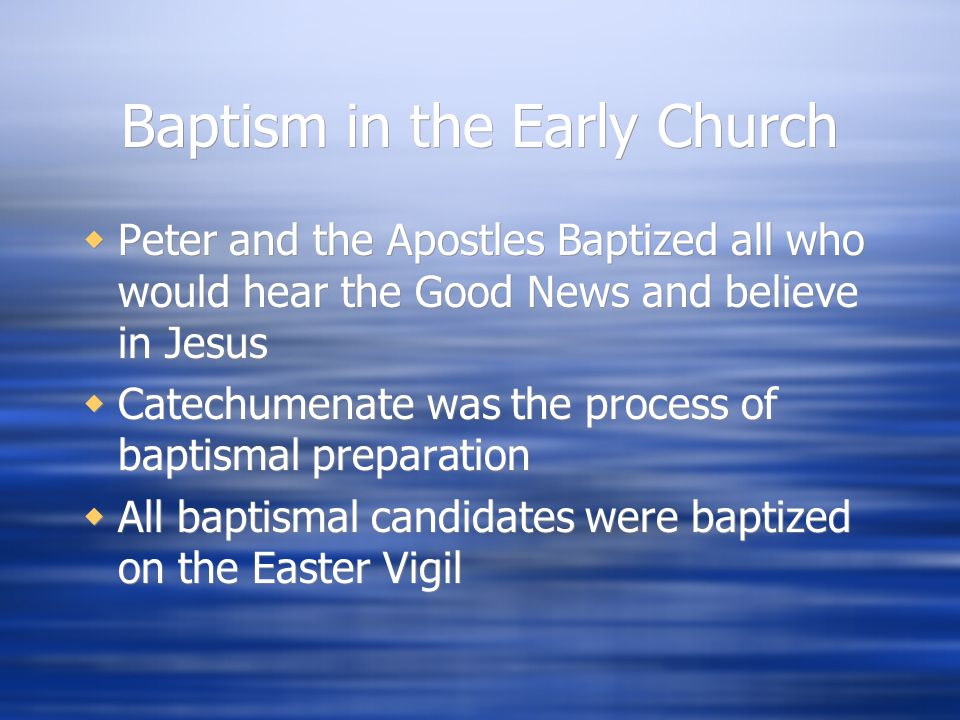Baptism in the Early Church