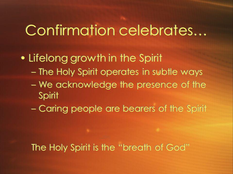 Confirmation celebrates…
