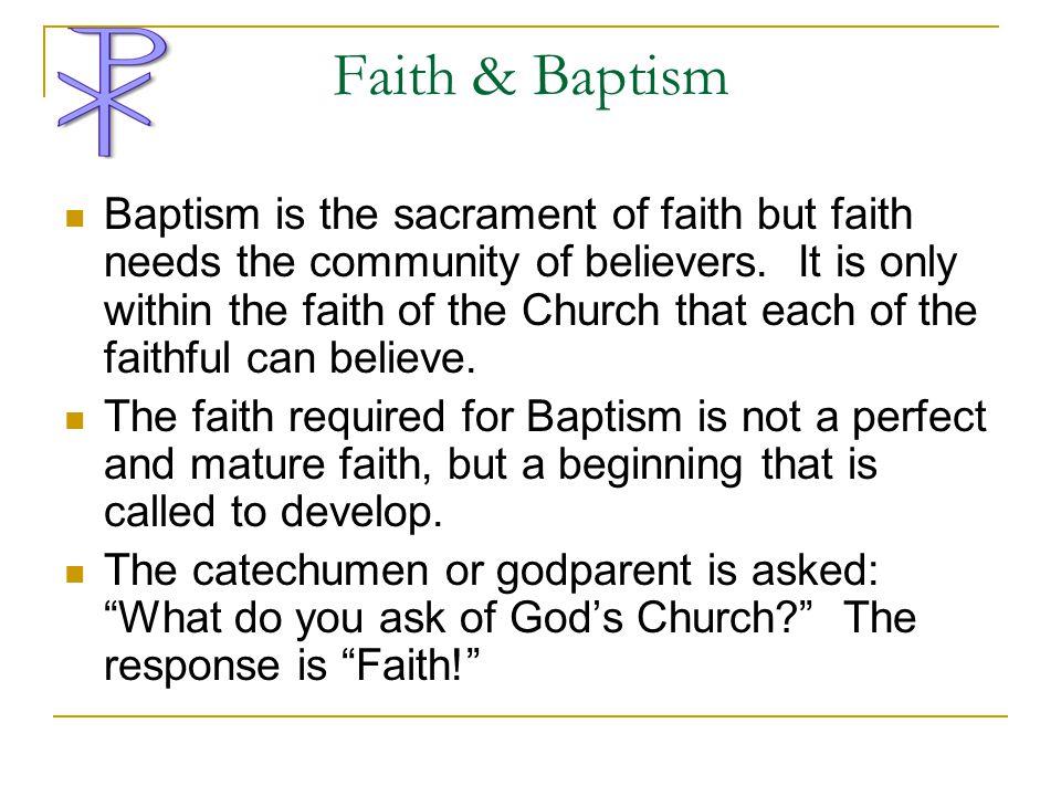 Faith & Baptism