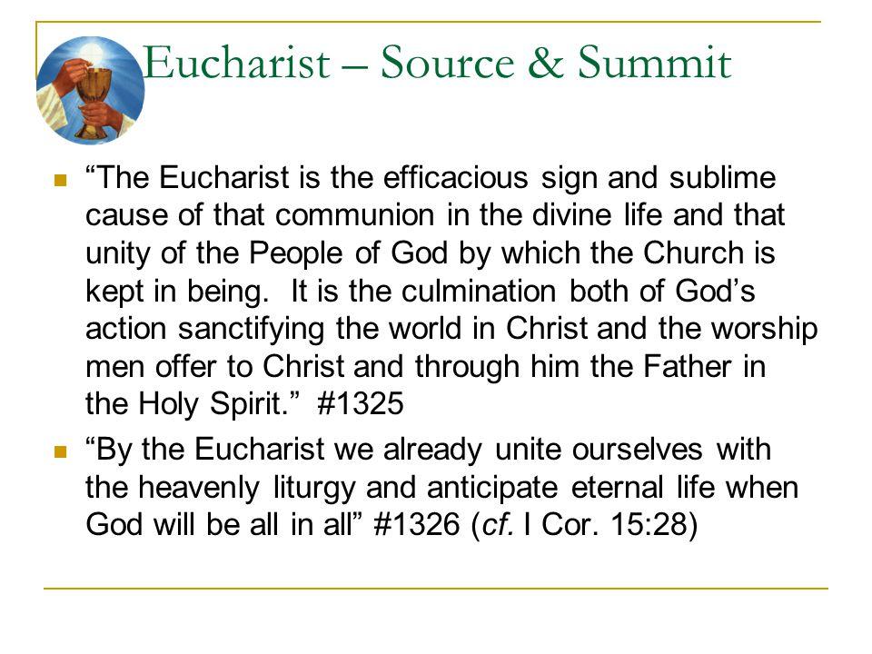Eucharist – Source & Summit