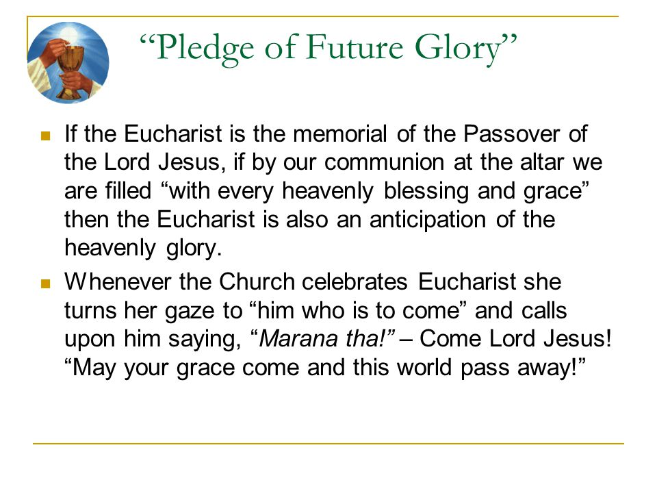 Pledge of Future Glory