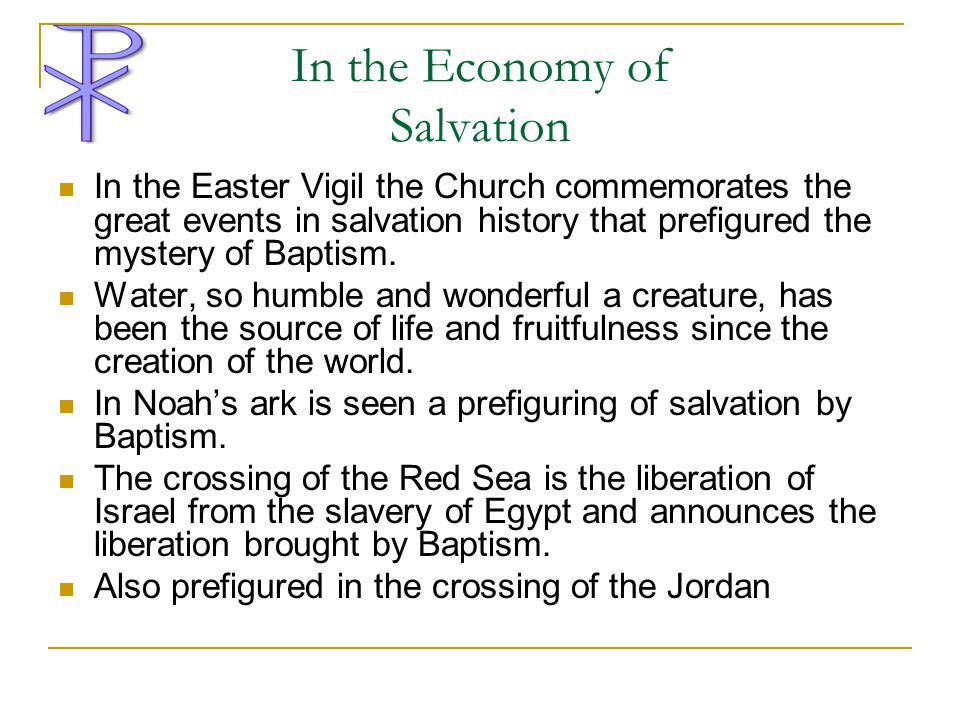 In the Economy of Salvation
