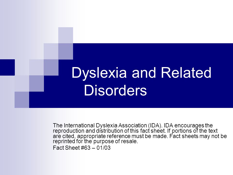 Dyslexia and Related Disorders