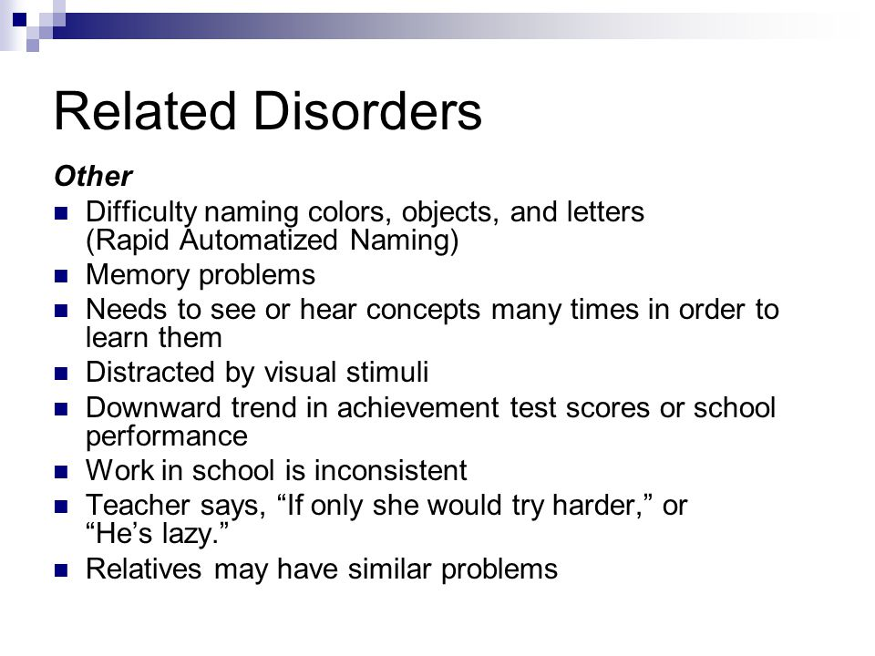 Related Disorders Other