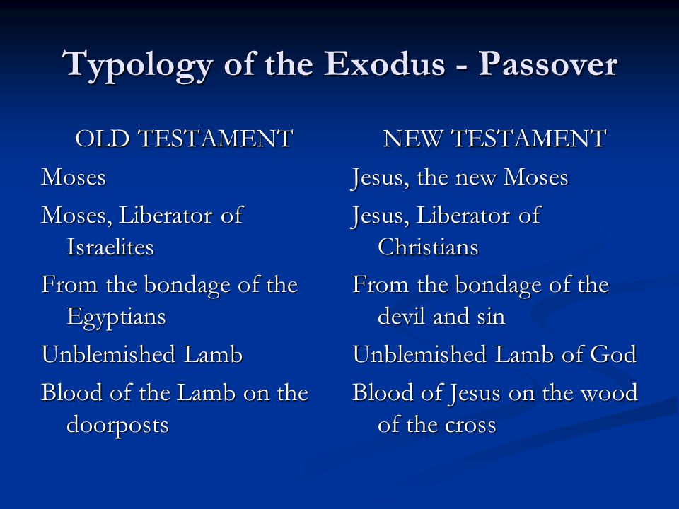Typology of the Exodus - Passover