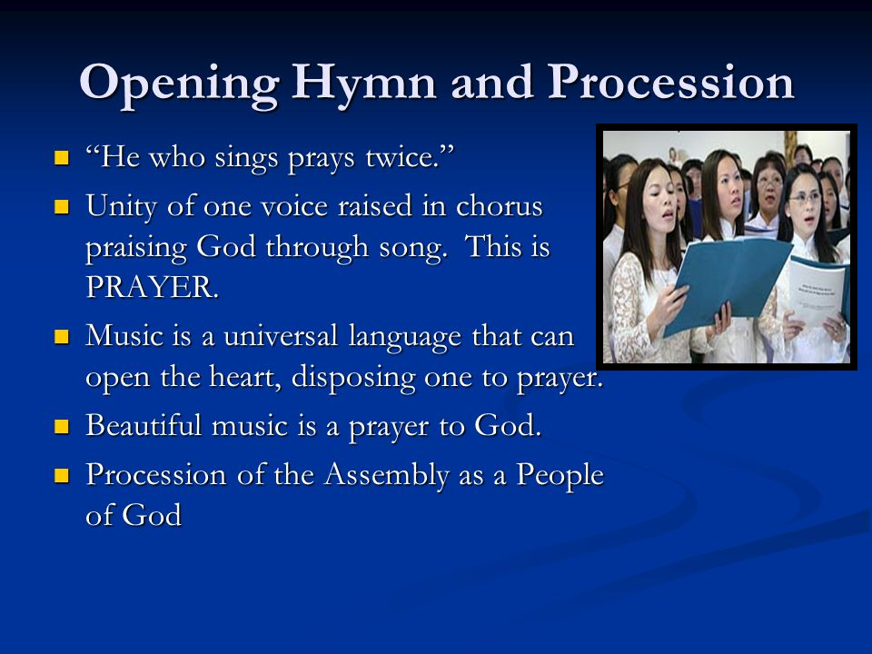 Opening Hymn and Procession