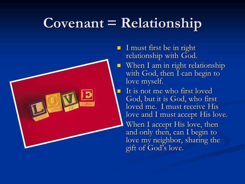 Covenant = Relationship