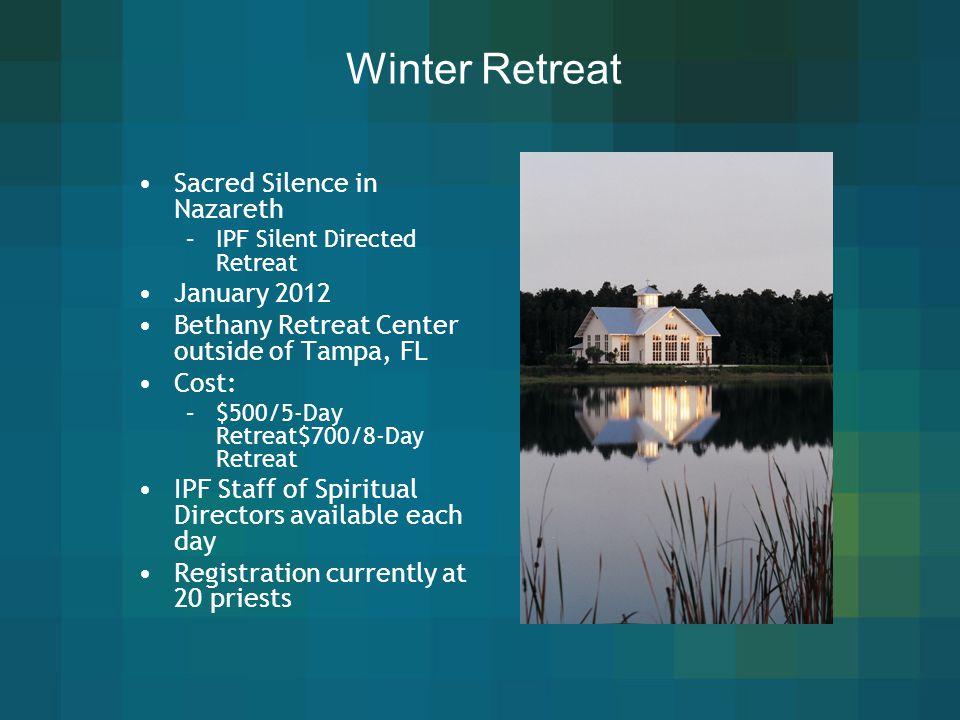 Winter Retreat Sacred Silence in Nazareth January 2012