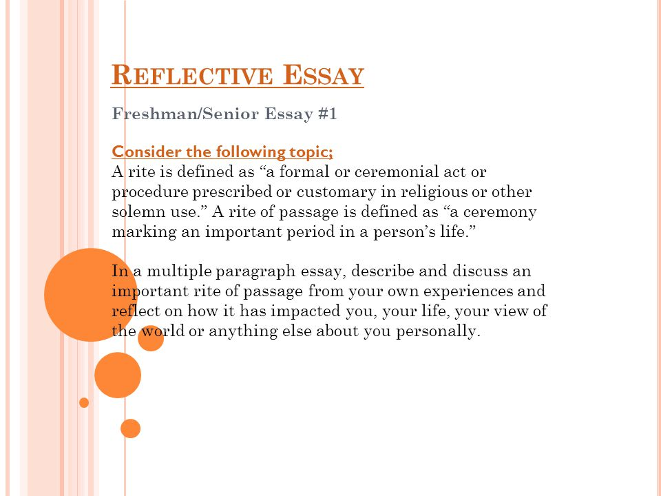 freshman senior essay ppt video online  freshman senior essay 1