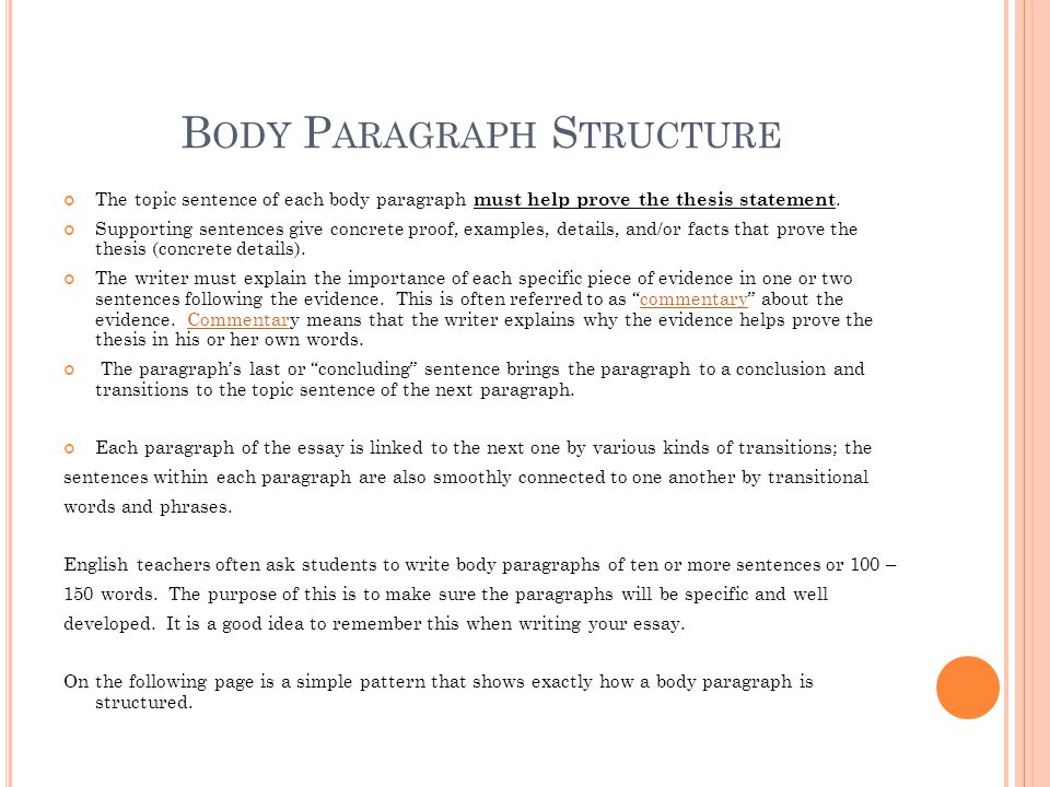 freshman senior essay ppt video online  14 body paragraph structure