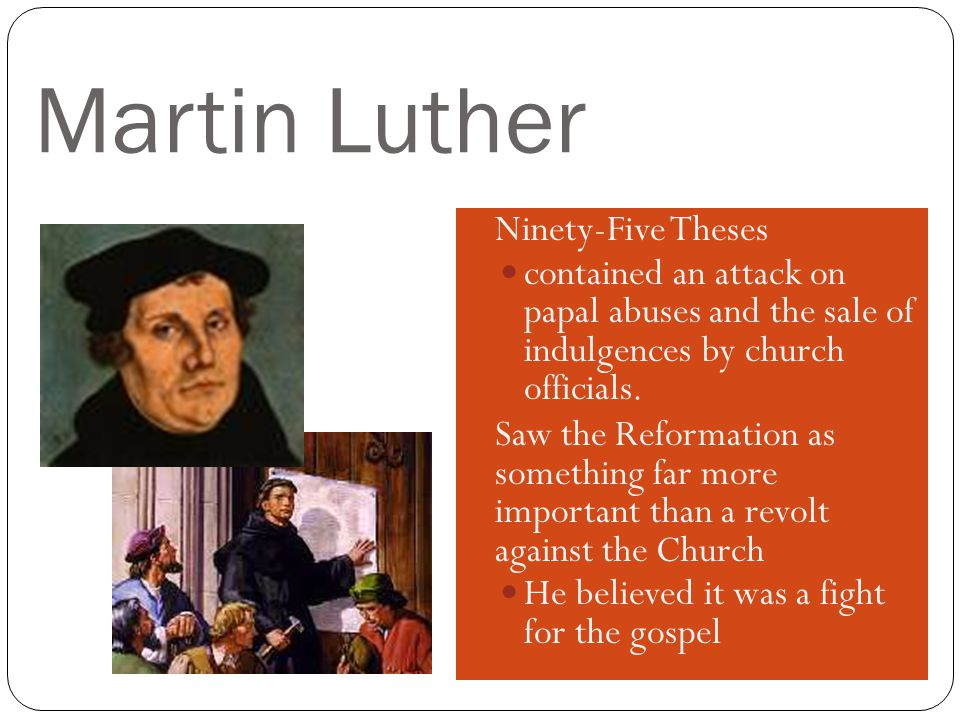 Martin Luther Ninety-Five Theses