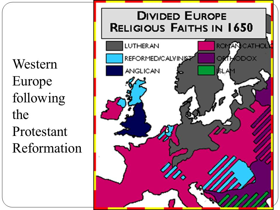 Western Europe following the Protestant Reformation