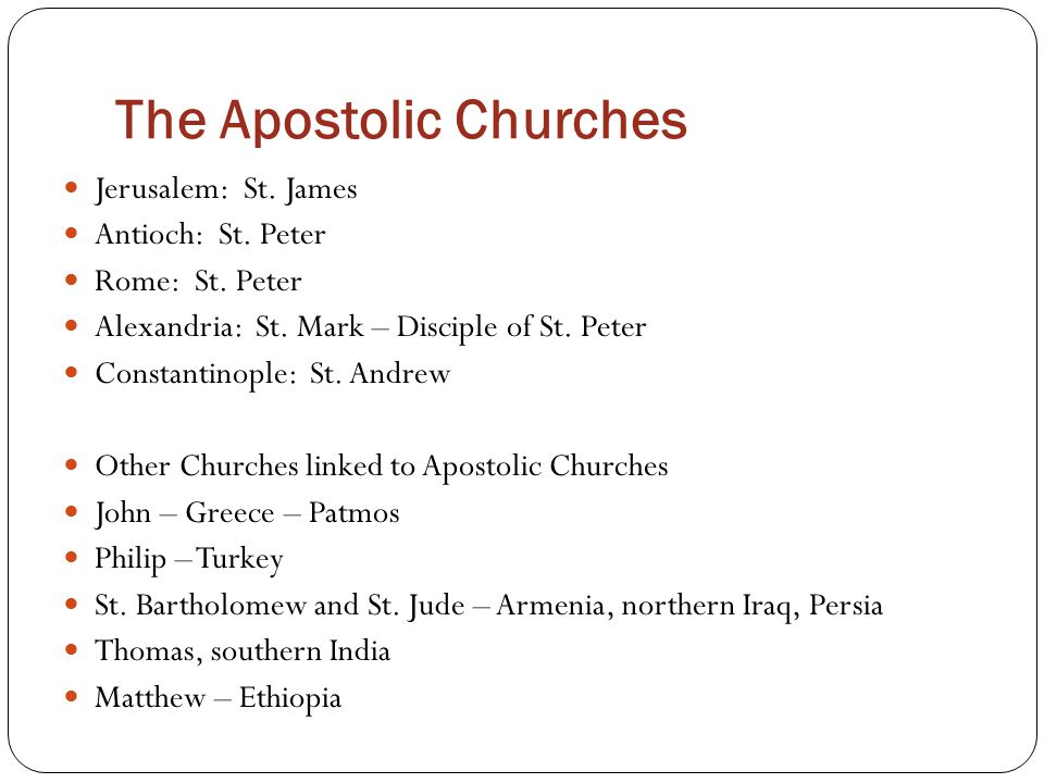 The Apostolic Churches