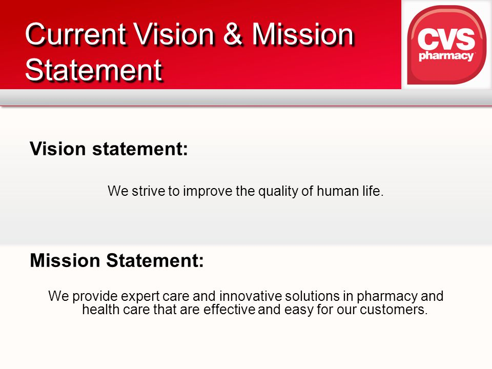 Current Vision & Mission Statement