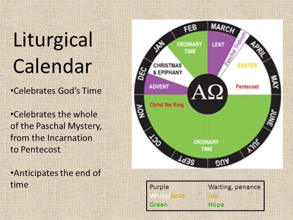 Liturgical Calendar Celebrates God's Time