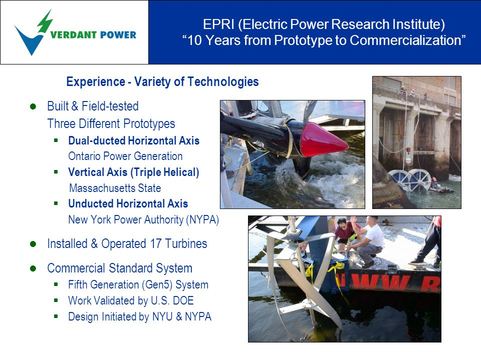 New York City & the East River Roosevelt Island Tidal Energy (RITE) Project