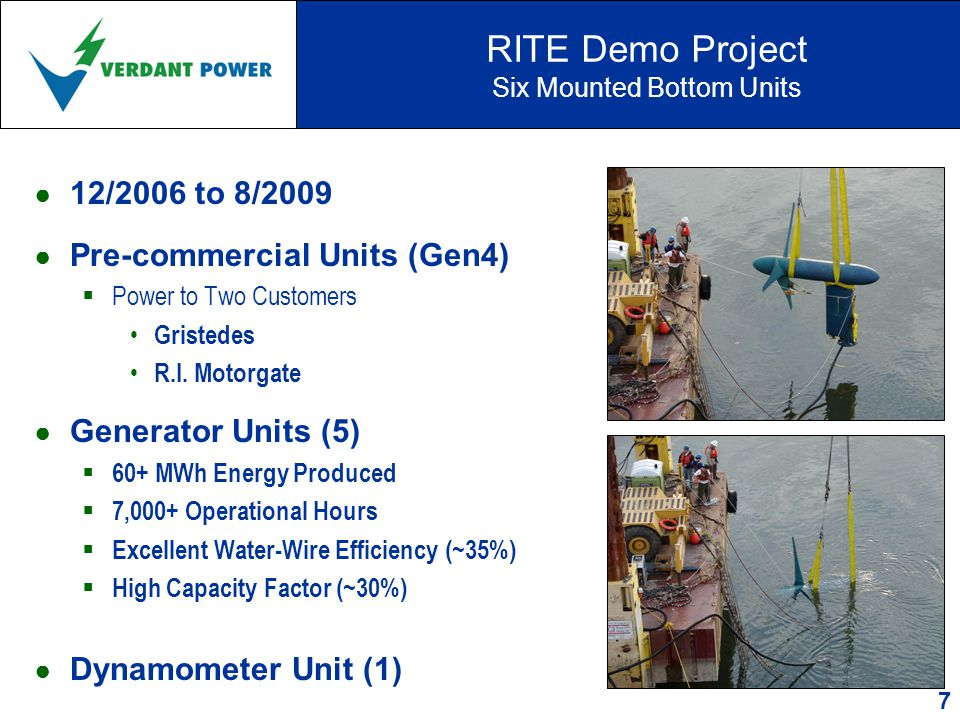 RITE Project - Phase 2 NYC's East River, Grid-connected Array