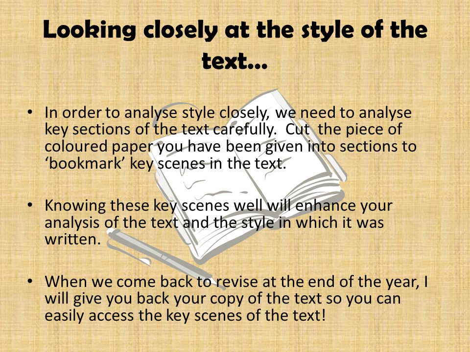 Looking closely at the style of the text…