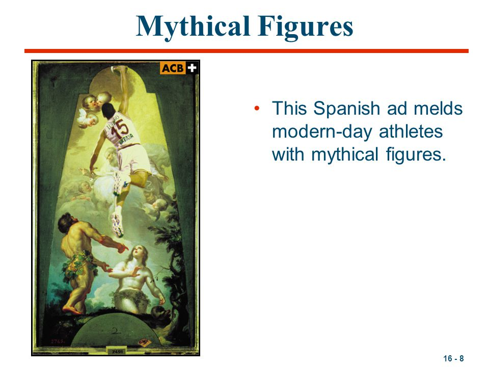 Mythical Figures This Spanish ad melds modern-day athletes with mythical figures.
