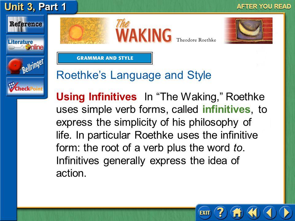 Roethke's Language and Style