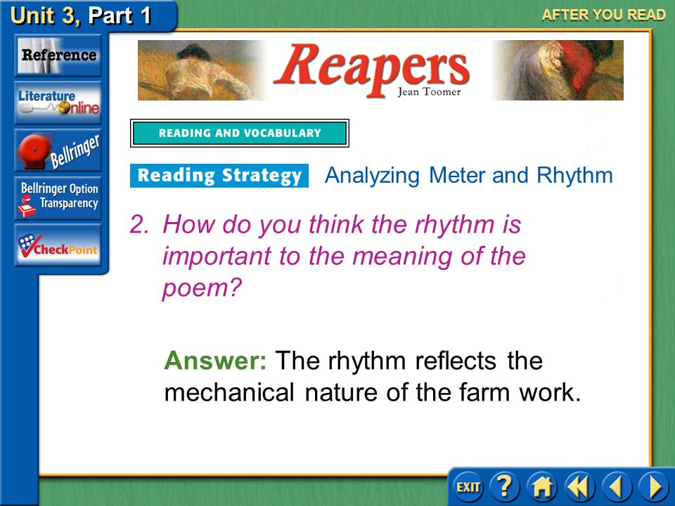 How do you think the rhythm is important to the meaning of the poem