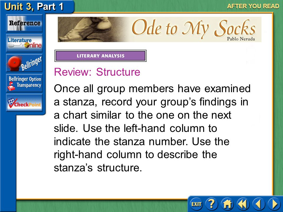 AFTER YOU READ Review: Structure.