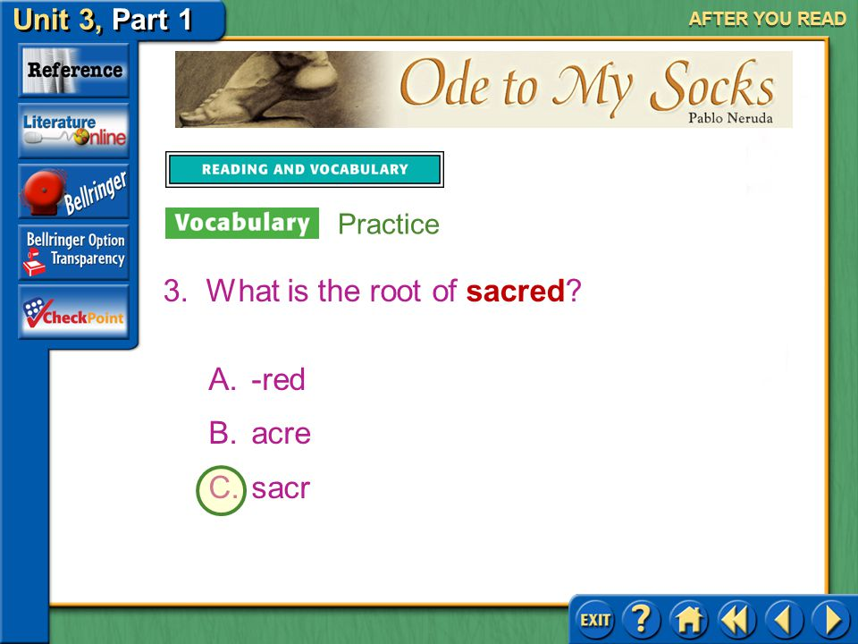 What is the root of sacred