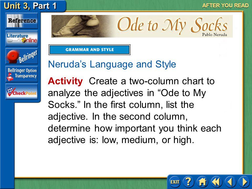 Neruda's Language and Style