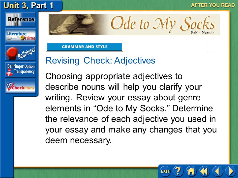 Revising Check: Adjectives