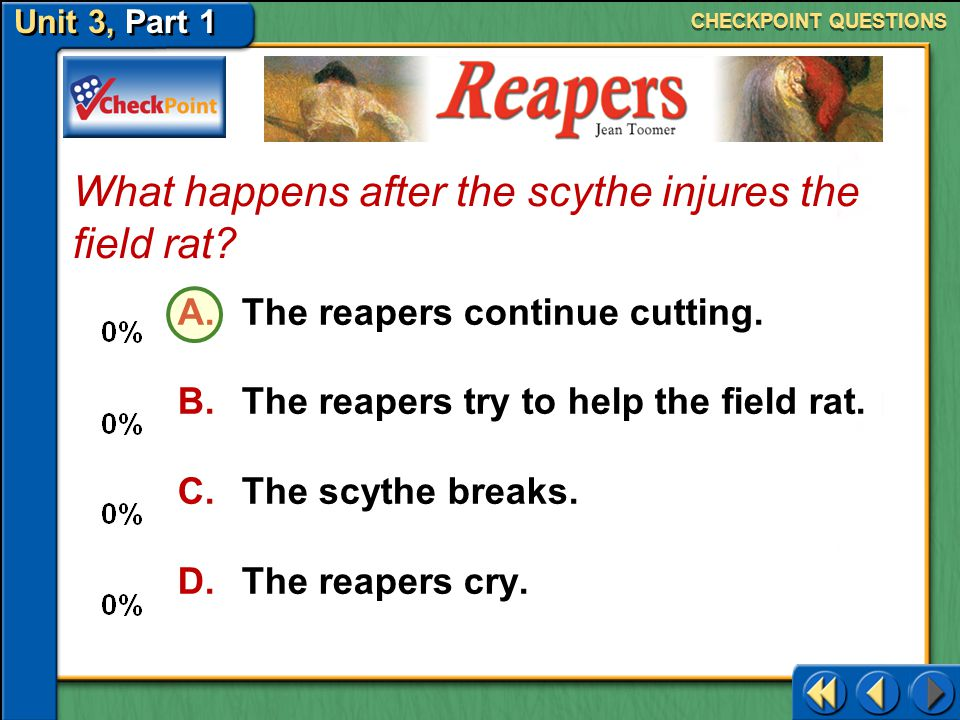 What happens after the scythe injures the field rat
