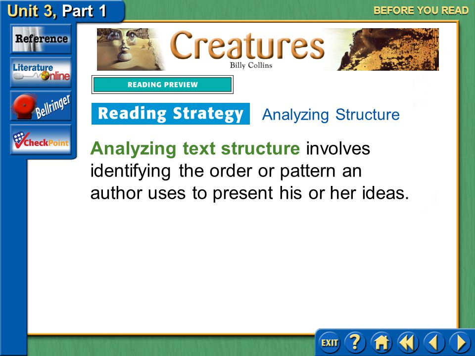 BEFORE YOU READ Analyzing Structure.