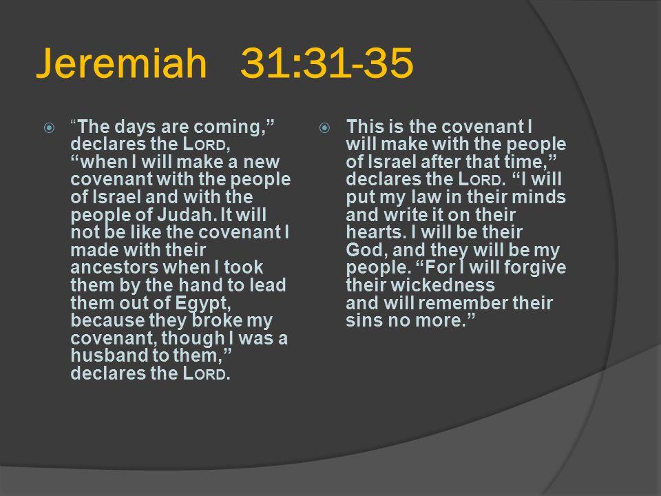 Jeremiah 31:31-35