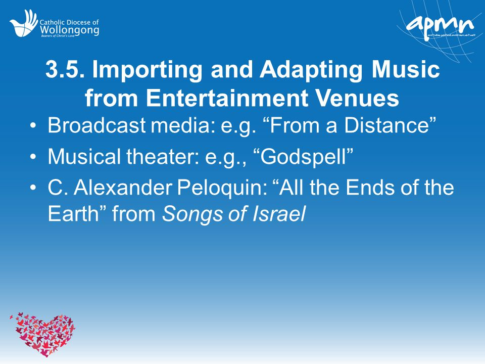 3.5. Importing and Adapting Music from Entertainment Venues
