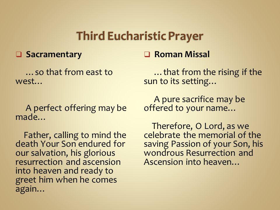 Third Eucharistic Prayer