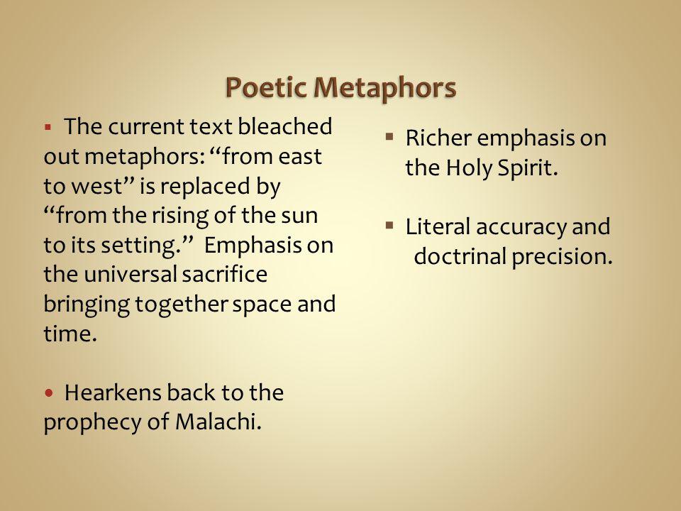 Poetic Metaphors