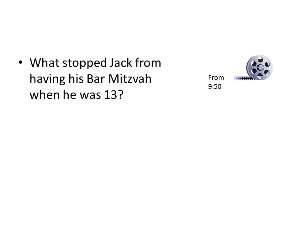 What stopped Jack from having his Bar Mitzvah when he was 13
