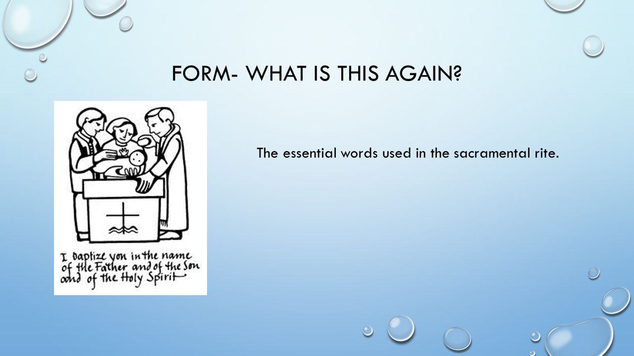 Form- what is this again