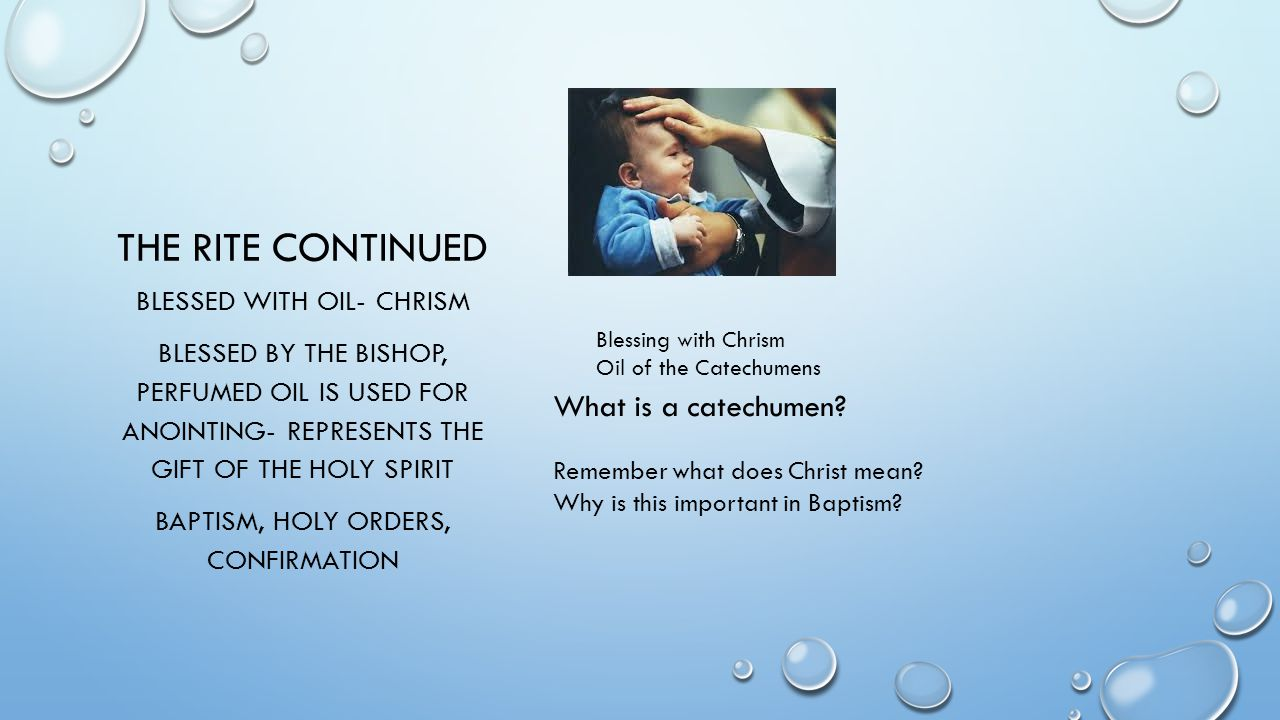 BAPTISM What it is What it is not Sacrament of Initiation ...