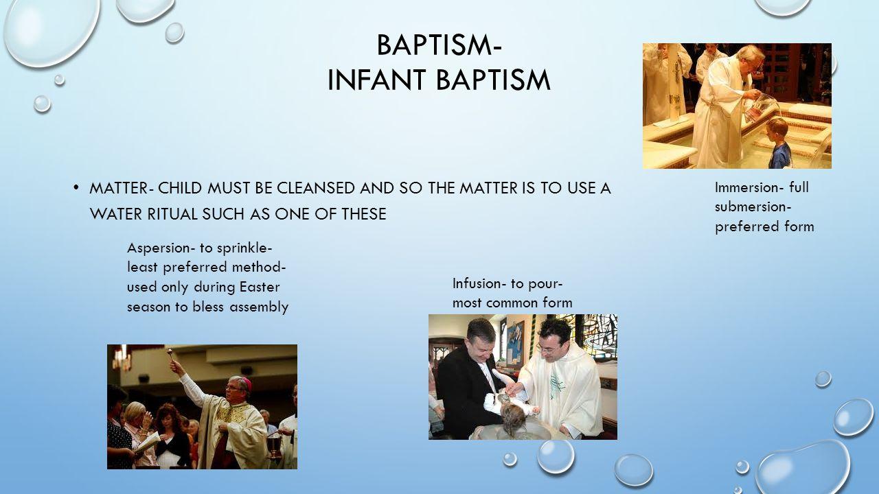 BAPTISM- infant baptism