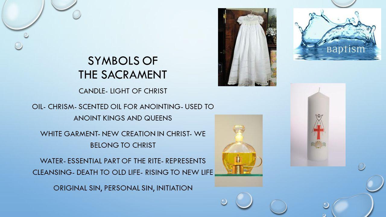 Symbols of the sacrament