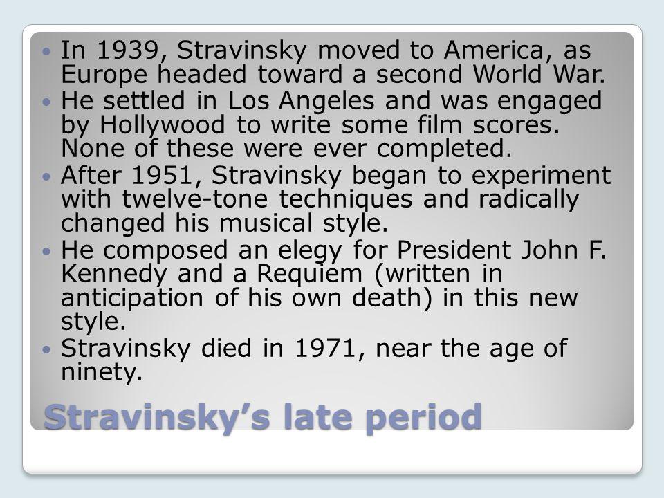 Stravinsky's late period