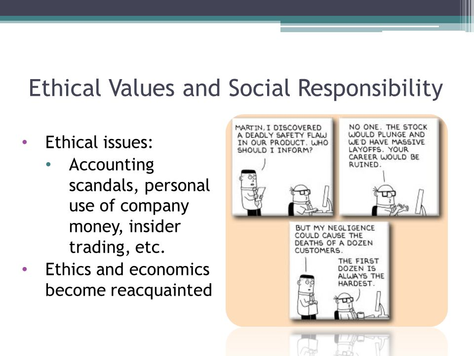 Ethical Values and Social Responsibility