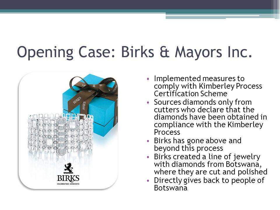 Opening Case: Birks & Mayors Inc.