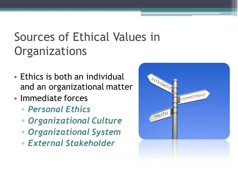 Sources of Ethical Values in Organizations