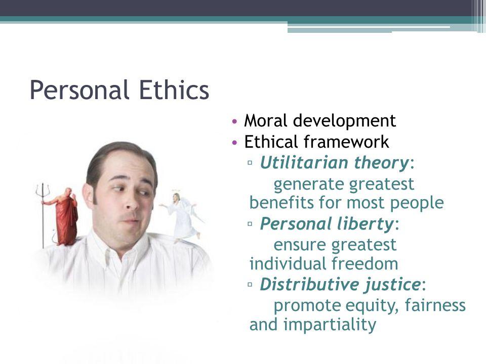 Personal Ethics Moral development Ethical framework
