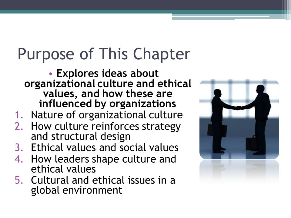 Purpose of This Chapter