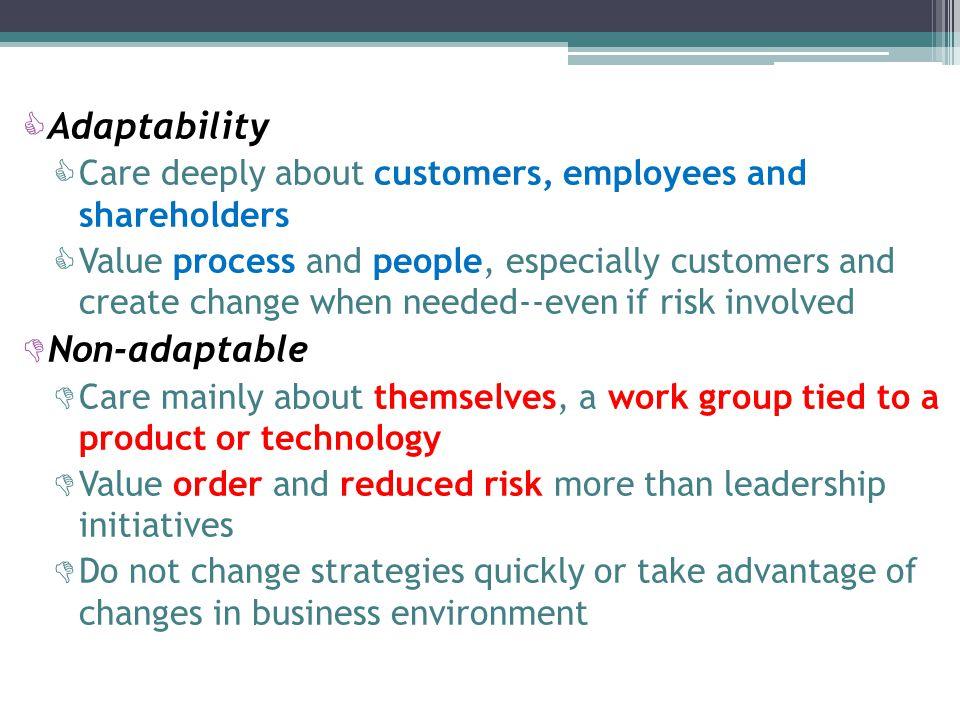 Adaptability Non-adaptable